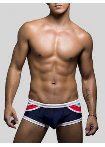 Color Block U Pouch Swimming Briefs