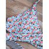 Floral Halter Neck Wrap Bikini Set - LIGHT BLUE