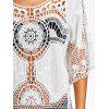 See Thru Crochet Lace Beach Cover Up - WHITE