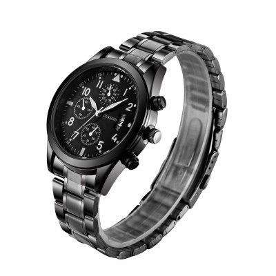 Stainless Steel Number Date Quartz Wrist WatchMens Watches<br>Stainless Steel Number Date Quartz Wrist Watch<br><br>Band Length(CM): 25.5cm<br>Band material: Alloys<br>Band Width(CM): 2cm<br>Case material: Alloy<br>Case Thickness(MM): 10mm<br>Dial Diameter: 4cm<br>Dial Shape: Round<br>Feature: Auto Date<br>Gender: For Men<br>Index Dial: Analog<br>Movement: Quartz<br>Package Contents: 1 x Watch<br>Style: Business<br>Type: Quartz watch<br>Water-Proof: No