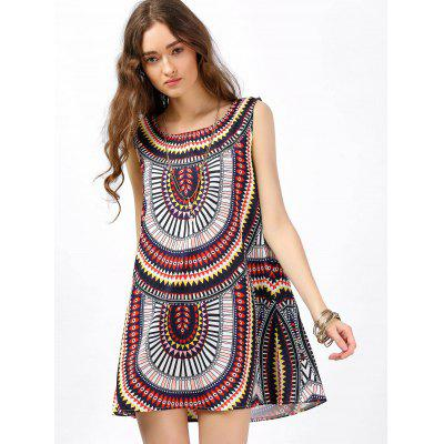 Sleeveless Shift Dress with Tribal PrintWomens Dresses<br>Sleeveless Shift Dress with Tribal Print<br><br>Dresses Length: Mini<br>Material: Polyester<br>Neckline: Scoop Neck<br>Package Contents: 1 x Dress<br>Pattern Type: Tribal Print<br>Season: Summer<br>Silhouette: Shift<br>Sleeve Length: Sleeveless<br>Style: Bohemian<br>Waist: Natural<br>Weight: 0.1500kg<br>With Belt: No