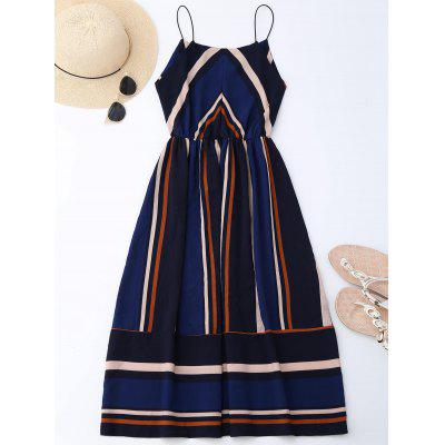 Multi Stripe Midi SundressWomens Dresses<br>Multi Stripe Midi Sundress<br><br>Dresses Length: Mid-Calf<br>Material: Polyester<br>Neckline: Spaghetti Strap<br>Occasion: Beach and Summer, Going Out, Night Out<br>Package Contents: 1 x Dress<br>Pattern Type: Striped<br>Season: Summer<br>Silhouette: A-Line<br>Sleeve Length: Sleeveless<br>Style: Brief<br>Weight: 0.3200kg<br>With Belt: No