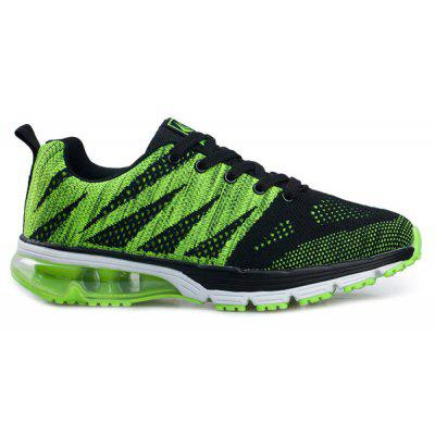 Buy BLACK AND GREEN Geometric Pattern Color Block Athletic Shoes for $43.74 in GearBest store
