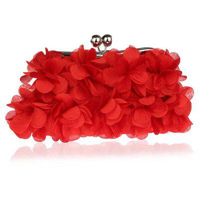 Buy RED Kiss Lock Satin Petal Evening Bag for $21.55 in GearBest store