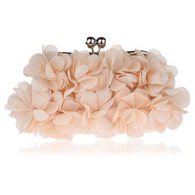 Buy BEIGE Kiss Lock Satin Petal Evening Bag for $21.55 in GearBest store
