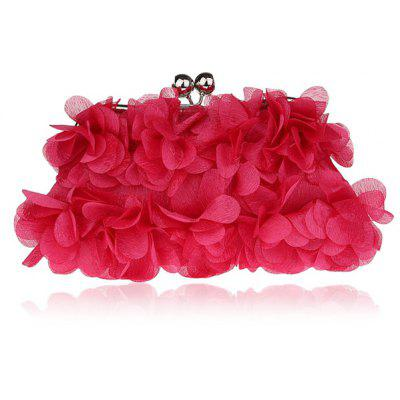 Buy ROSE RED Kiss Lock Satin Petal Evening Bag for $21.55 in GearBest store