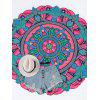 Round Mandala Print Beach Throw - DEEP PINK