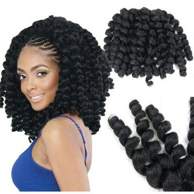 1 Piece Afro Wand Curl Synthetic Hair Extension
