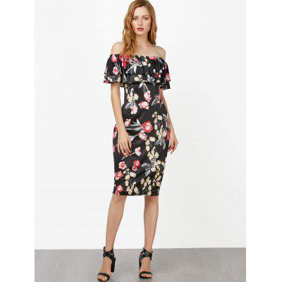 Off The Shoulder Floral Ruffle Layer DressWomens Dresses<br>Off The Shoulder Floral Ruffle Layer Dress<br><br>Dresses Length: Knee-Length<br>Material: Polyester<br>Neckline: Off The Shoulder<br>Package Contents: 1 x Dress<br>Pattern Type: Print<br>Season: Summer<br>Silhouette: Bodycon<br>Sleeve Length: Short Sleeves<br>Style: Brief<br>Weight: 0.3500kg<br>With Belt: No