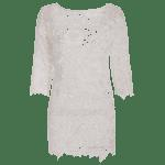 Scalloped Lace Sheer Swimsuit Cover Ups Dress deal