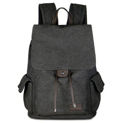 Side Pockets Canvas Backpack
