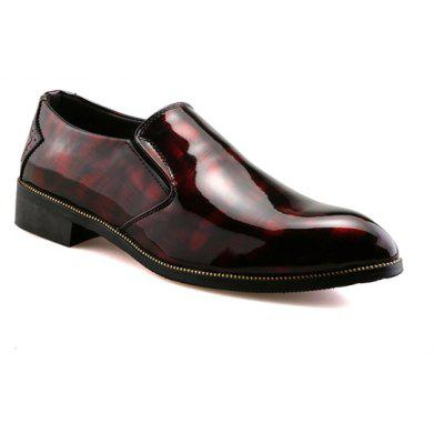 Elastic Patent Leather Formal Shoes