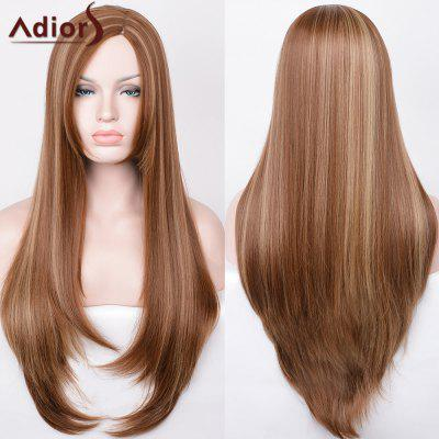Buy COLORMIX Adiors Hightlight Side Parting Ultra Long Straight Synthetic Wig for $20.29 in GearBest store