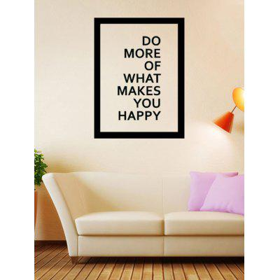Buy Do More Quote Wall Stickers BLACK Home & Garden > Home Decors > Wall Art > Wall Stickers for $5.62 in GearBest store