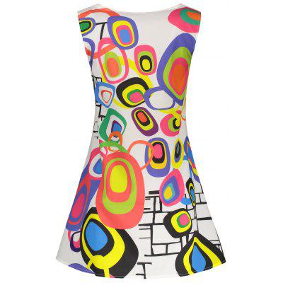 Geometrical Mini Trapeze DressWomens Dresses<br>Geometrical Mini Trapeze Dress<br><br>Dresses Length: Mini<br>Material: Polyester<br>Neckline: Round Collar<br>Package Contents: 1 x Dress<br>Pattern Type: Print<br>Season: Summer<br>Silhouette: Trapeze<br>Sleeve Length: Sleeveless<br>Style: Brief<br>Weight: 0.2500kg<br>With Belt: No