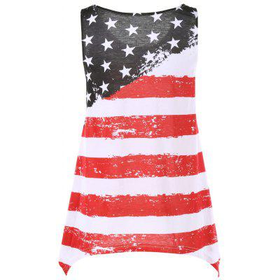 Distressed American Flag Tank TopTank Tops<br>Distressed American Flag Tank Top<br><br>Material: Polyester, Spandex<br>Package Contents: 1 x Tank Top<br>Pattern Type: Striped<br>Shirt Length: Regular<br>Style: Casual<br>Weight: 0.3600kg