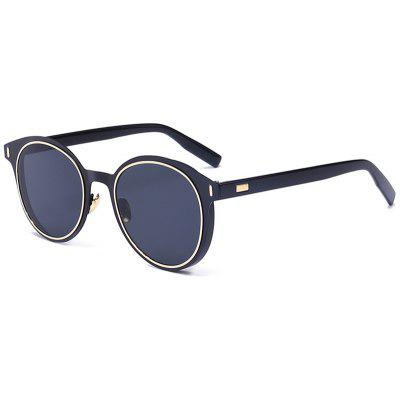 Metal Frame UV Protection Round Sunglasses