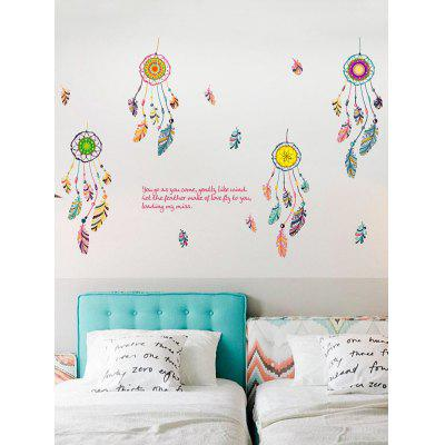 Buy Art Feather Aeolian Bell Bedroom Wall Stickers COLORMIX Home & Garden > Home Decors > Wall Art > Wall Stickers for $5.25 in GearBest store