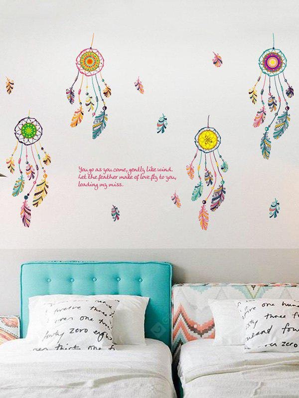 Art Feather Aeolian Bell Bedroom Wall Stickers COLORMIX Home & Garden > Home Decors > Wall Art > Wall Stickers