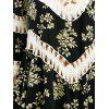 Flounce Floral Crochet Panel Cover-Up - WHITE AND BLACK