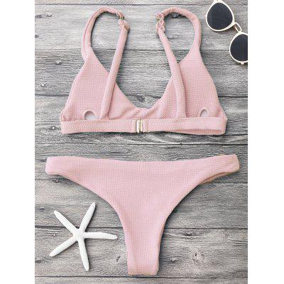 Padded Scoop Neck Bikini SetWomens Swimwear<br>Padded Scoop Neck Bikini Set<br><br>Bra Style: Padded<br>Elasticity: Elastic<br>Gender: For Women<br>Material: Polyester, Spandex<br>Neckline: Scoop Neck<br>Package Contents: 1 x Top  1 x Bottoms<br>Pattern Type: Solid<br>Support Type: Wire Free<br>Swimwear Type: Bikini<br>Waist: Low Waisted<br>Weight: 0.2000kg