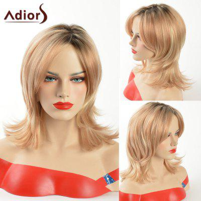 Buy COLORMIX Adiors Medium Dark Root Tail Upwards Side Part Synthetic Wig for $17.59 in GearBest store