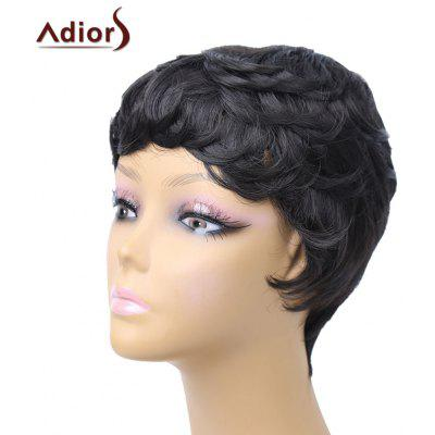 Adiors Pixie Short Layered Slightly Curled Side Bang Synthetic Wig