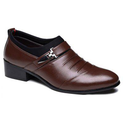 Ruched Metal Formal Shoes