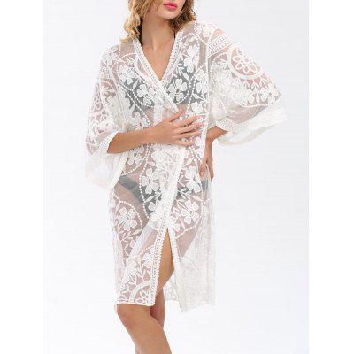 See Thru Long Lace Cover Up Cardigan