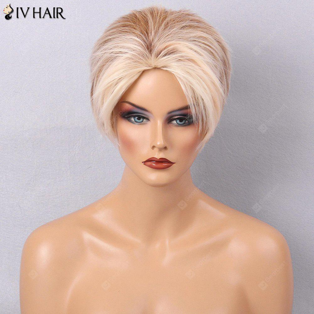 Siv Hair Messy Short Colormix Side Bang Straight Layered Human Hair