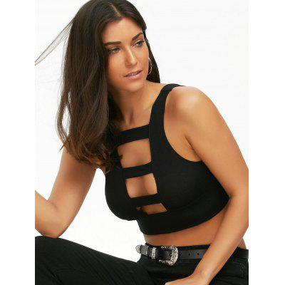 Ladder Cut Out Crop Top