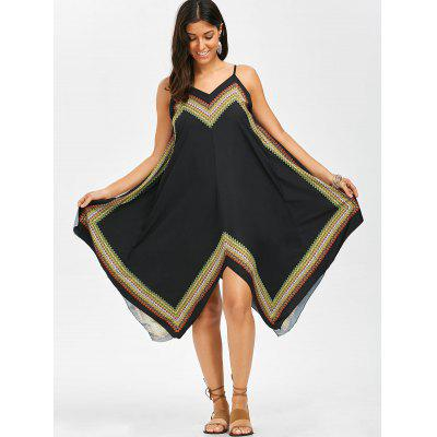 Printed Oversized Slip Handkerchief DressWomens Dresses<br>Printed Oversized Slip Handkerchief Dress<br><br>Dresses Length: Mid-Calf<br>Material: Cotton, Polyester<br>Neckline: Spaghetti Strap<br>Package Contents: 1 x Dress<br>Pattern Type: Print<br>Season: Summer<br>Silhouette: Handkerchief<br>Sleeve Length: Sleeveless<br>Style: Bohemian<br>Weight: 0.2200kg<br>With Belt: No
