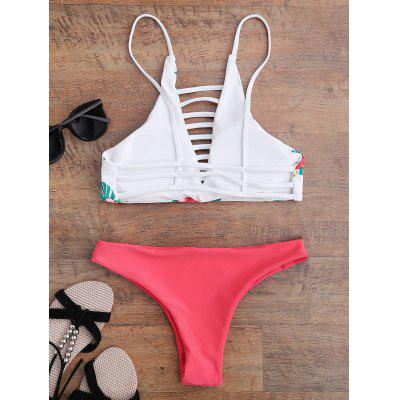 Floral Strappy Bikini SetWomens Swimwear<br>Floral Strappy Bikini Set<br><br>Bra Style: Padded<br>Elasticity: Elastic<br>Embellishment: Hollow Out<br>Gender: For Women<br>Material: Nylon, Spandex<br>Neckline: Spaghetti Straps<br>Package Contents: 1 x Bra  1 x Briefs<br>Pattern Type: Floral<br>Support Type: Wire Free<br>Swimwear Type: Bikini<br>Waist: Low Waisted<br>Weight: 0.1900kg