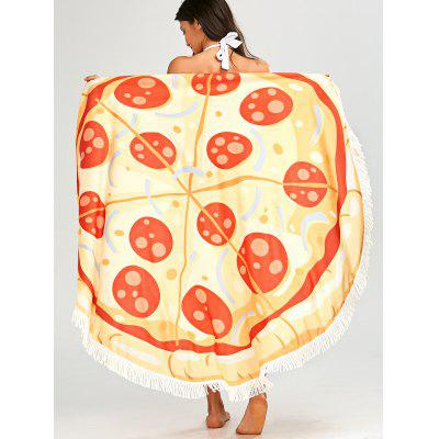 Fringed Round Pizza Beach Throw