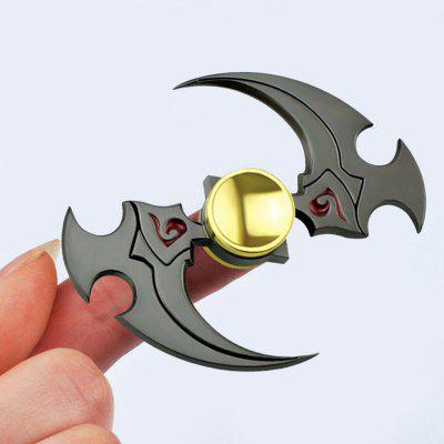 Antistress Toy Sickle Shaped Alloy Hand Fidget Spinner