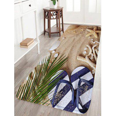 Zapatos de playa Starfish Flannel Skidproof Bath Rug