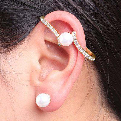 Buy Faux Pearl Rhinestone Ear Cuff and Stud Earring GOLDEN Watches & Jewelry > Fashion Jewelry > Earrings for $4.32 in GearBest store