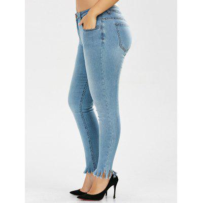 Light Wash Skinny Plus Size Jeans