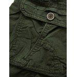 Zip Fly Cargo Shorts with Pockets - BLUE
