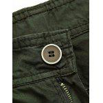 Zip Fly Cargo Shorts with Pockets - BLANC