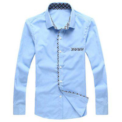Checked Insert Long Sleeve Shirt