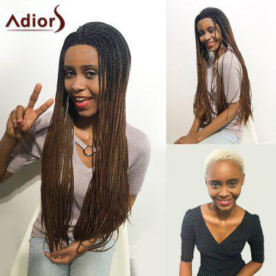 Adiors Two Tone Afro Braid Lace Front Long Synthetic Hair