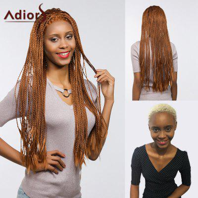 Adiors Long Senegal Twists Braids Parrucca sintetica anteriore