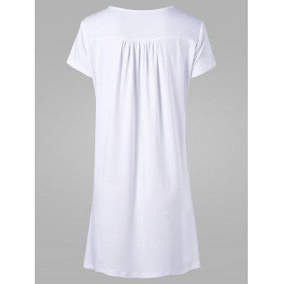 Low Cut Lace Up Tee DressWomens Dresses<br>Low Cut Lace Up Tee Dress<br><br>Dresses Length: Knee-Length<br>Material: Polyester, Spandex<br>Neckline: Plunging Neck<br>Occasion: Outdoor, Causal<br>Package Contents: 1 x Dress<br>Pattern Type: Others<br>Season: Summer<br>Silhouette: Straight<br>Sleeve Length: Short Sleeves<br>Style: Casual<br>Weight: 0.4700kg<br>With Belt: No
