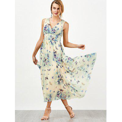 Empire Waist Butterfly Print Flowing DressWomens Dresses<br>Empire Waist Butterfly Print Flowing Dress<br><br>Dress Type: Flowing Dress<br>Dresses Length: Mid-Calf<br>Material: Polyester<br>Neckline: V-Neck<br>Package Contents: 1 x Dress<br>Pattern Type: Butterfly<br>Season: Summer<br>Silhouette: A-Line<br>Sleeve Length: Sleeveless<br>Style: Bohemian<br>Weight: 0.4300kg<br>With Belt: No