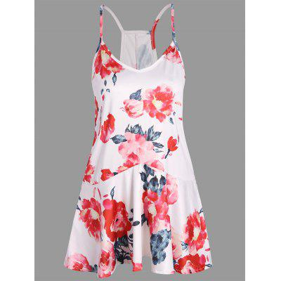 Buy FLORAL M Floral Print Racerback Cami Top for $13.81 in GearBest store