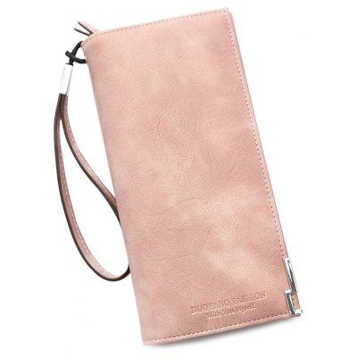 Faux Leather Bifold Wristlet Wallet