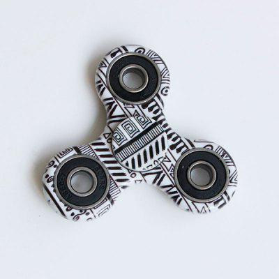 Gearbest Graphic Pattern Focus Toy Fidget Spinner - BLACK