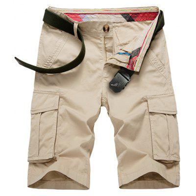 Buy KHAKI Flap Pockets Bermuda Cargo Shorts for $34.43 in GearBest store