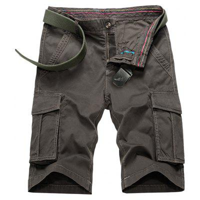 Buy TAUPE Flap Pockets Bermuda Cargo Shorts for $34.43 in GearBest store